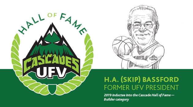 Skip Bassford honoured by Cascades Hall of Fame for role in developing athletics at UFV