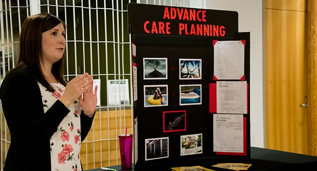 Advanced Medical Office Assistant Laura Dencer presents her Advance Care Planning capstone project