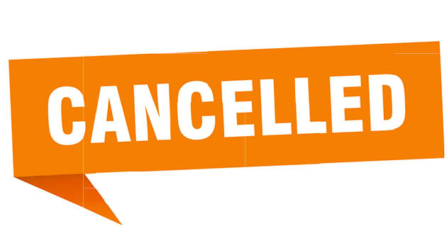 Event cancellation and modification list — March 16-April 30