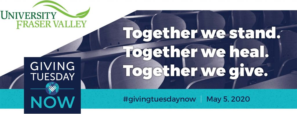 UFV invites community support for #GivingTuesdayNow campaign on May 5