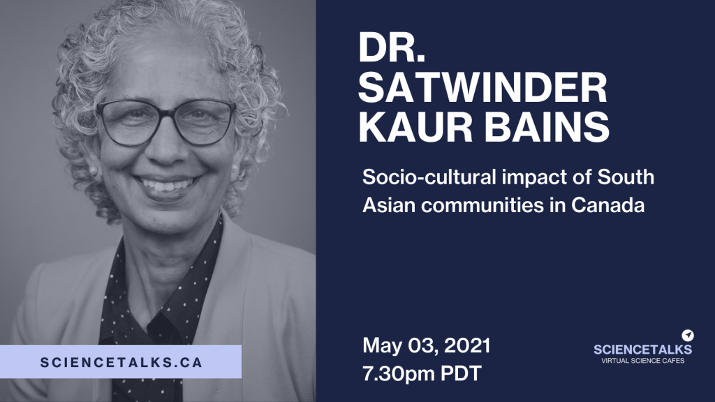 Bains promotes understanding for South Asians — Science Talks lecture May 3