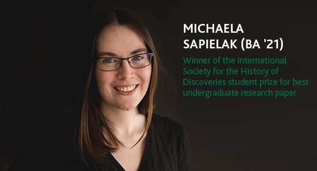 History grad turns passion into a prestigious international essay award