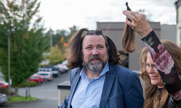 Local locks sheared in support of Indigenous language scholarship
