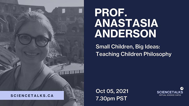 Anderson challenges children to master their critical thinking skills — Science Talks lecture October 5